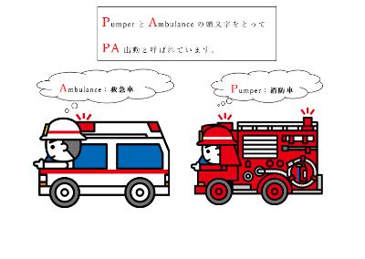 イラスト 消防 車